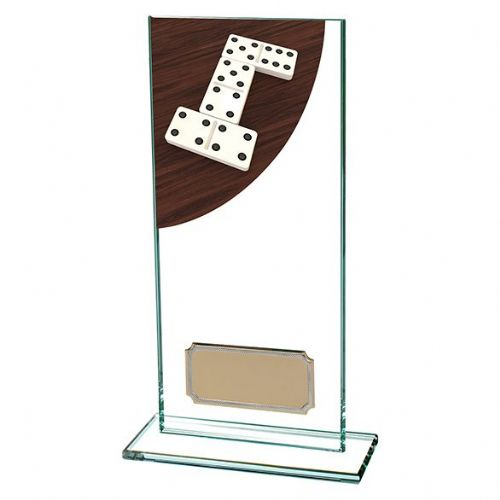 Colour Curve Dominoes Jade Glass Award 180mm